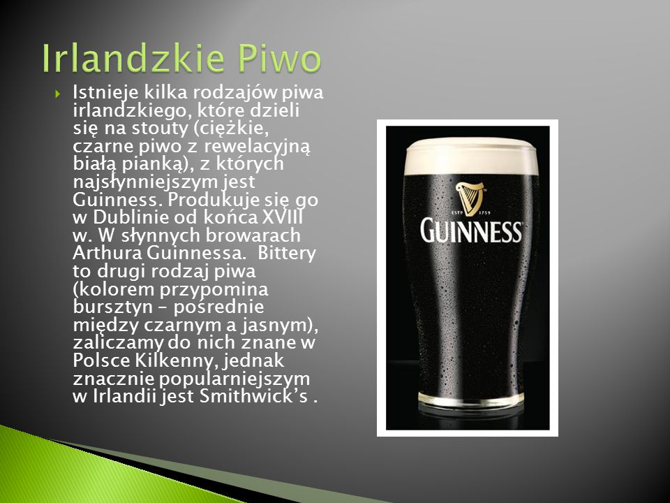 Irlandzkie Piwo
