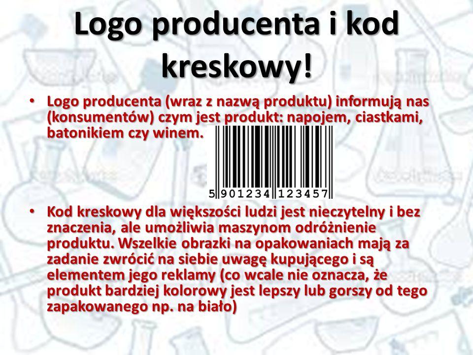 Logo producenta i kod kreskowy!