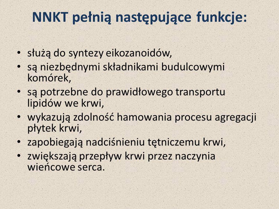 NNKT pełnią następujące funkcje: