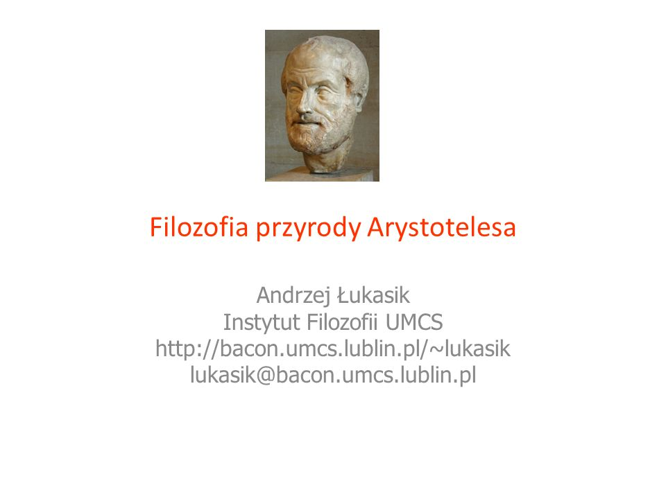 Filozofia przyrody Arystotelesa