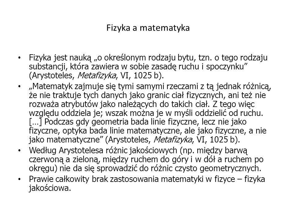 Fizyka a matematyka