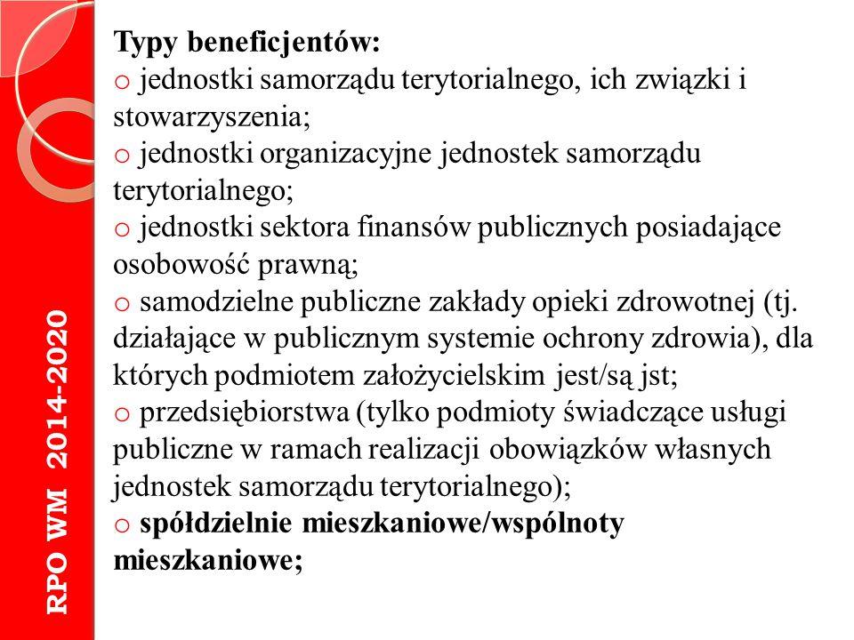 jednostki samorządu terytorialnego, ich związki i stowarzyszenia;