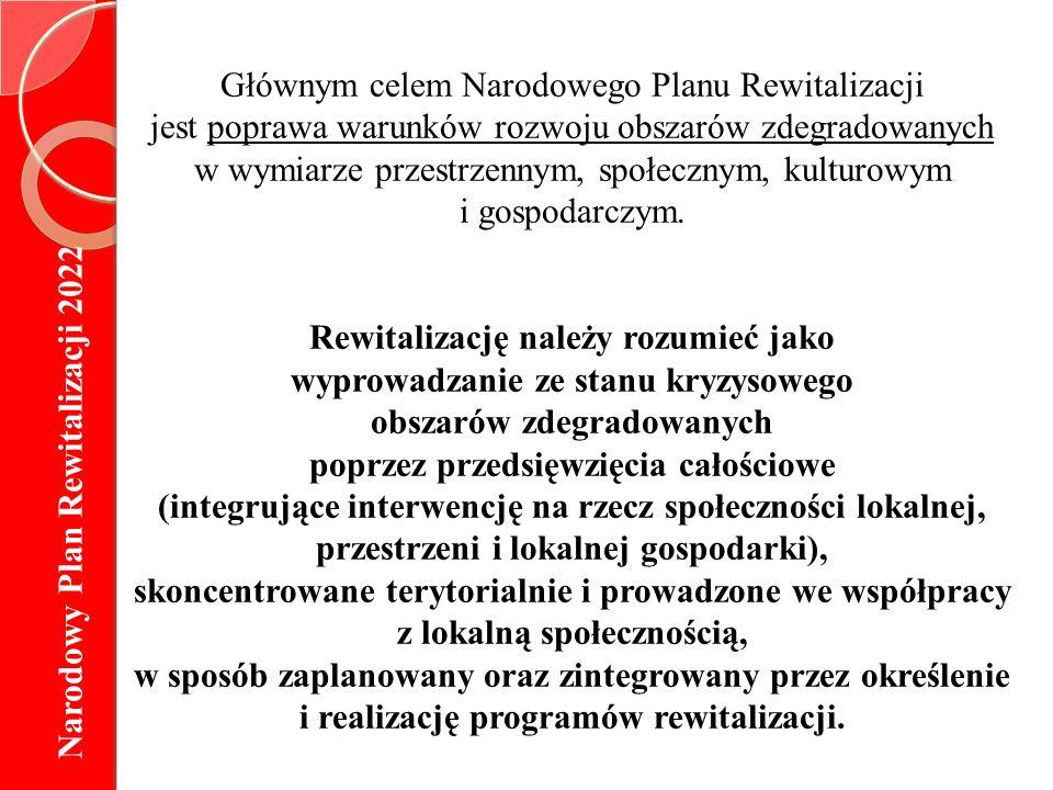 Głównym celem Narodowego Planu Rewitalizacji