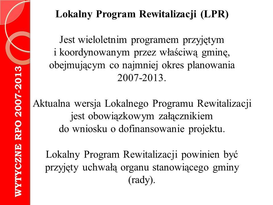 Lokalny Program Rewitalizacji (LPR)