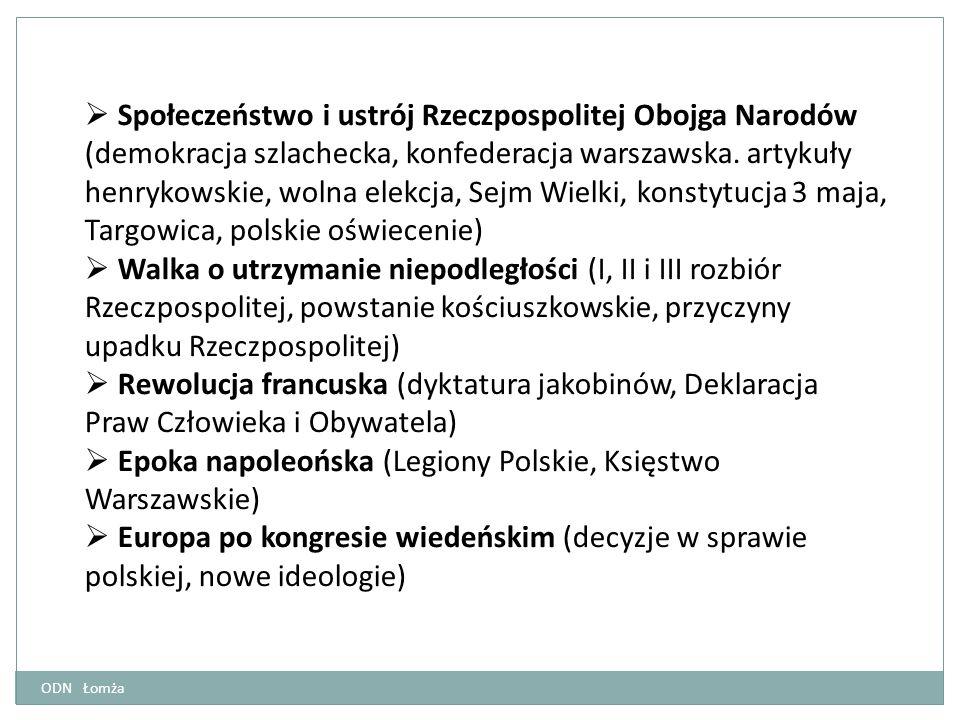 Epoka napoleońska (Legiony Polskie, Księstwo Warszawskie)