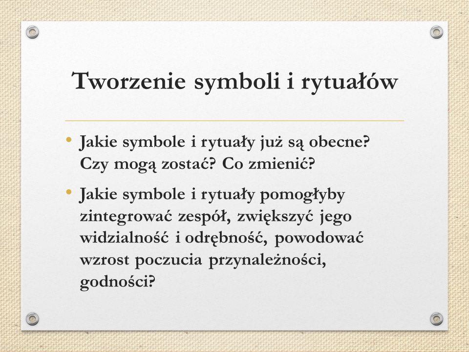 Tworzenie symboli i rytuałów