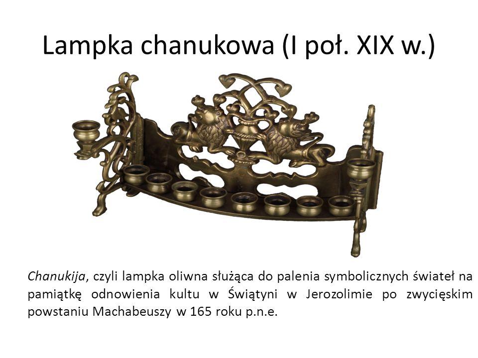 Lampka chanukowa (I poł. XIX w.)