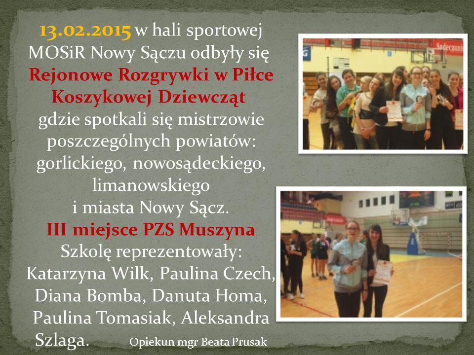 III miejsce PZS Muszyna