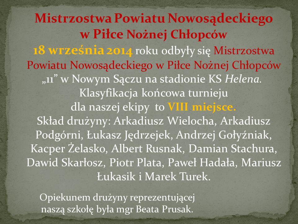 Mistrzostwa Powiatu Nowosądeckiego w Piłce Nożnej Chłopców