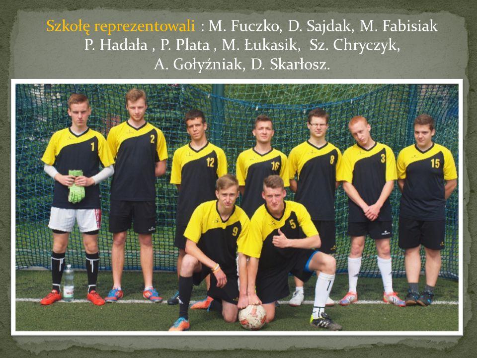 Szkołę reprezentowali : M. Fuczko, D. Sajdak, M.