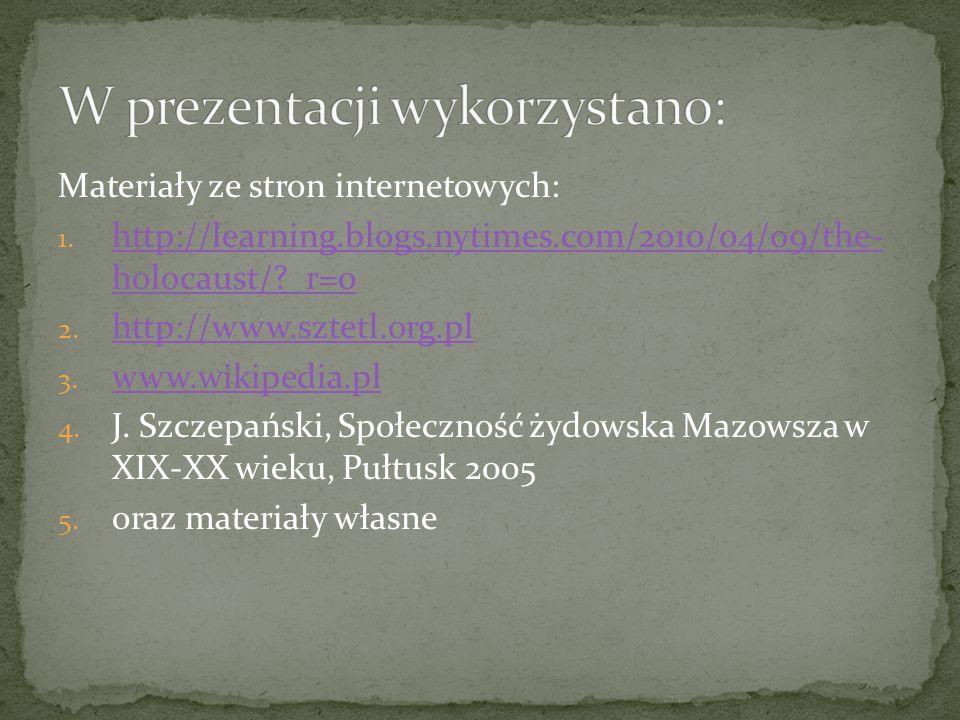 W prezentacji wykorzystano: