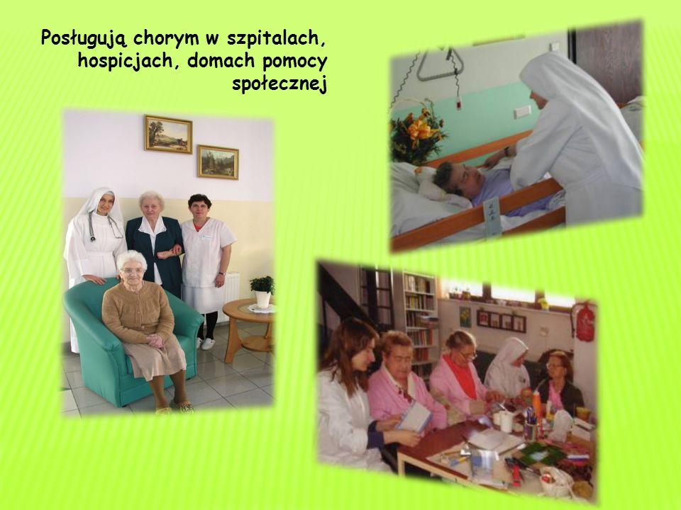 Posługują chorym w szpitalach, hospicjach, domach pomocy społecznej