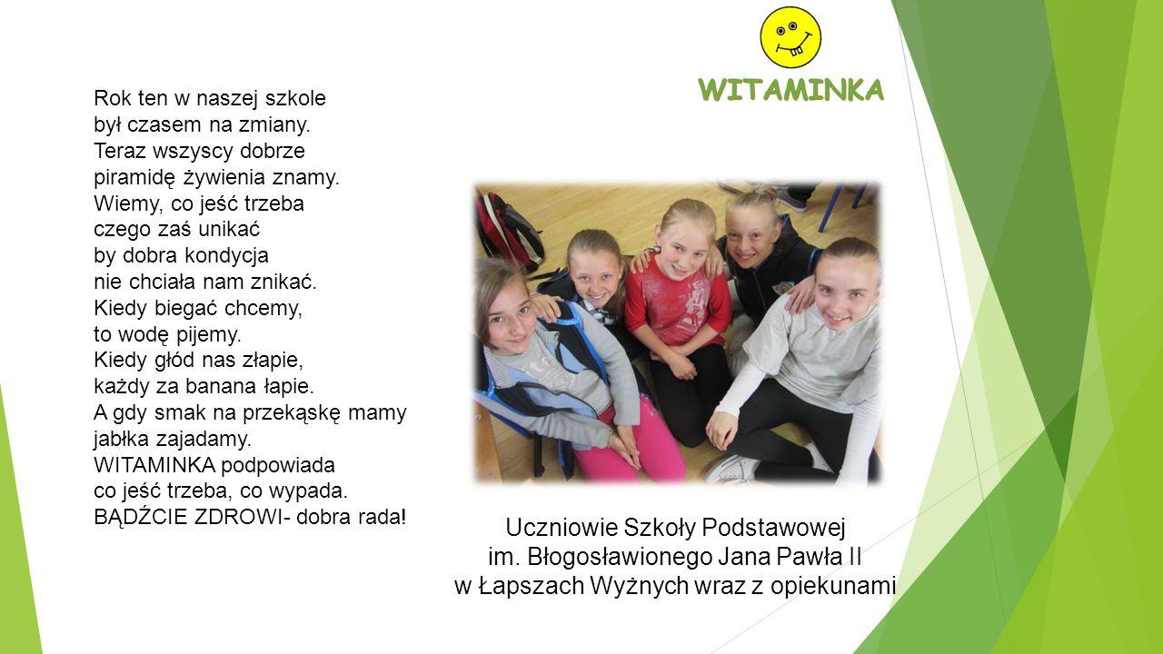 Uczniowie Szkoły Podstawowej im. Błogosławionego Jana Pawła II