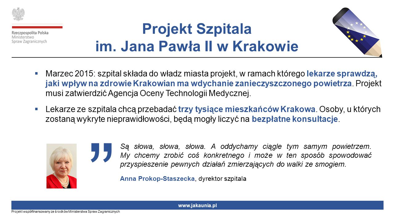 Projekt Szpitala im. Jana Pawła II w Krakowie