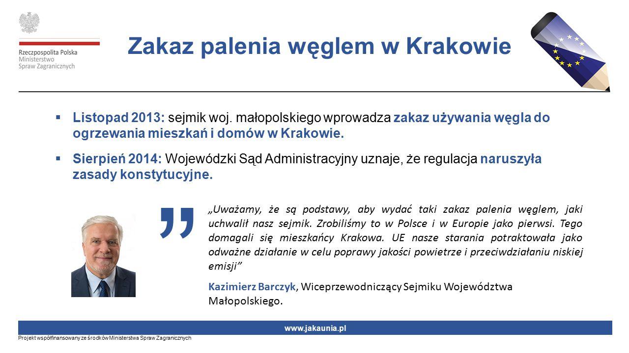 Zakaz palenia węglem w Krakowie