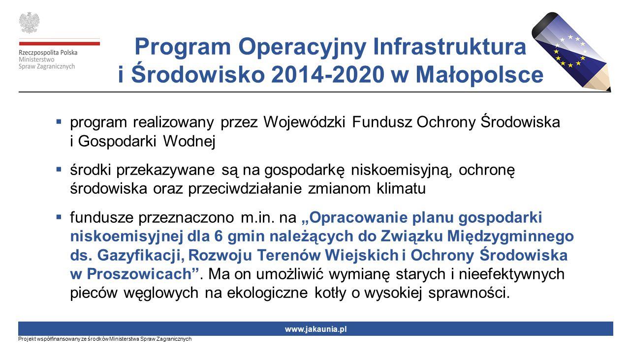 Program Operacyjny Infrastruktura i Środowisko 2014-2020 w Małopolsce