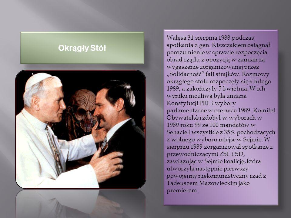 Wałęsa 31 sierpnia 1988 podczas spotkania z gen