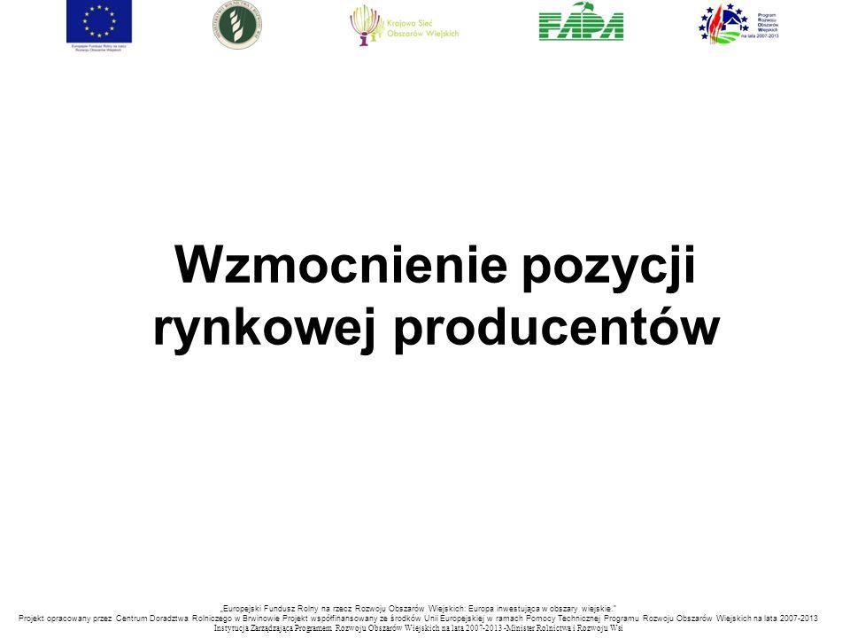 Wzmocnienie pozycji rynkowej producentów