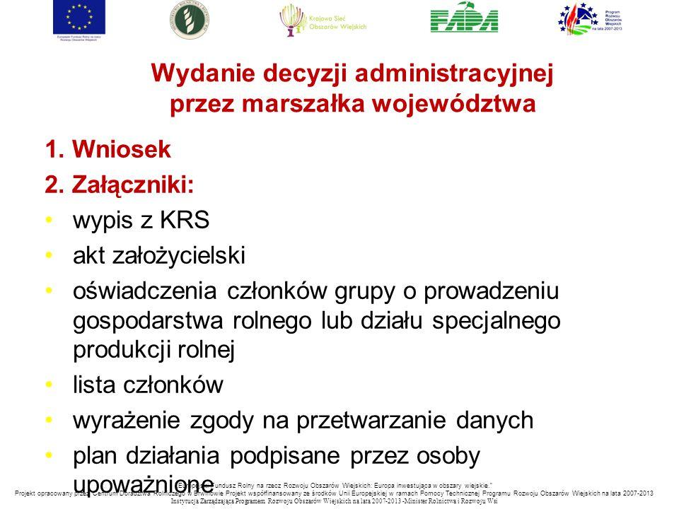 Wydanie decyzji administracyjnej przez marszałka województwa