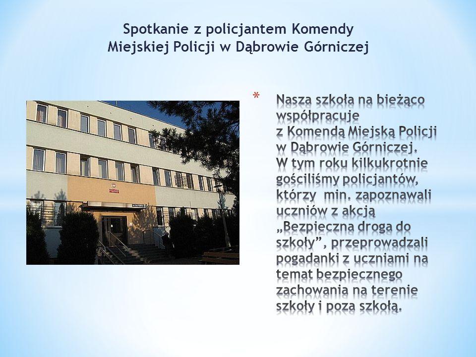 Spotkanie z policjantem Komendy Miejskiej Policji w Dąbrowie Górniczej