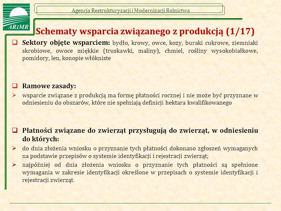 Schematy wsparcia związanego z produkcją (1/17)