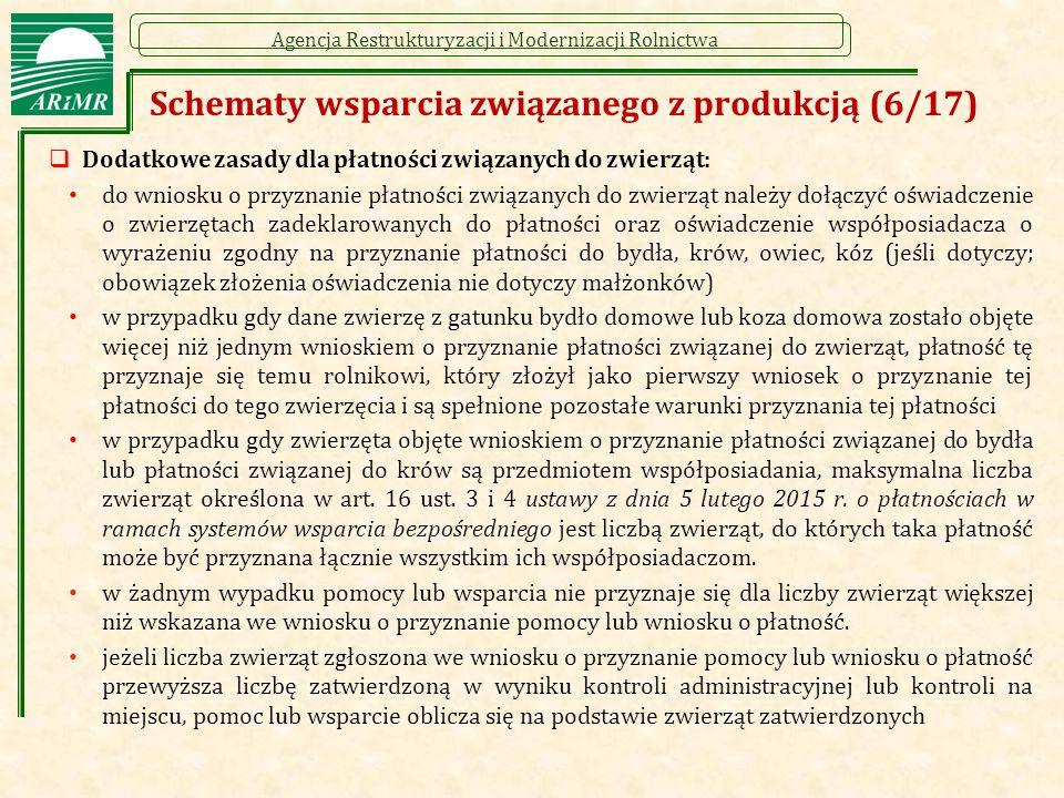 Schematy wsparcia związanego z produkcją (6/17)