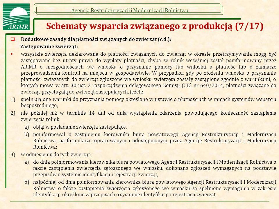 Schematy wsparcia związanego z produkcją (7/17)