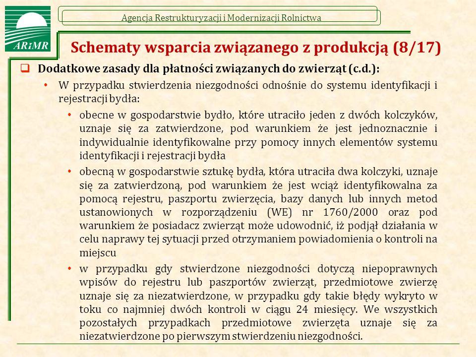 Schematy wsparcia związanego z produkcją (8/17)