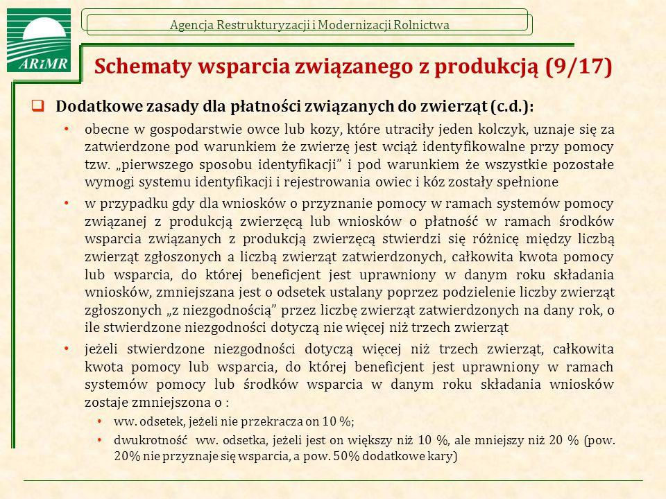 Schematy wsparcia związanego z produkcją (9/17)