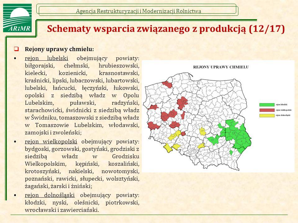 Schematy wsparcia związanego z produkcją (12/17)