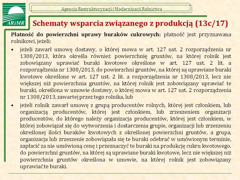 Schematy wsparcia związanego z produkcją (13c/17)