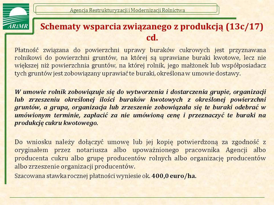 Schematy wsparcia związanego z produkcją (13c/17) cd.