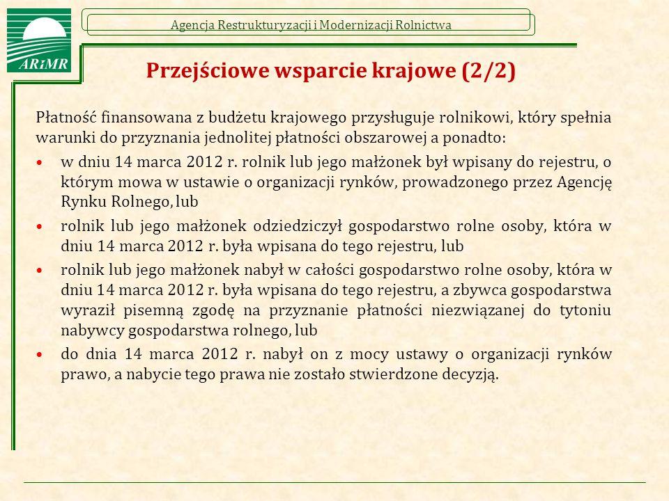 Przejściowe wsparcie krajowe (2/2)