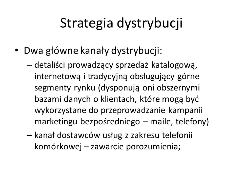 Strategia dystrybucji