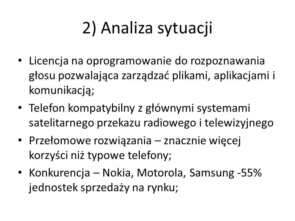2) Analiza sytuacji Licencja na oprogramowanie do rozpoznawania głosu pozwalająca zarządzać plikami, aplikacjami i komunikacją;