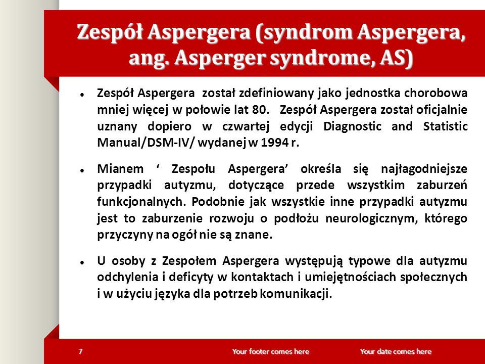 Zespół Aspergera (syndrom Aspergera, ang. Asperger syndrome, AS)