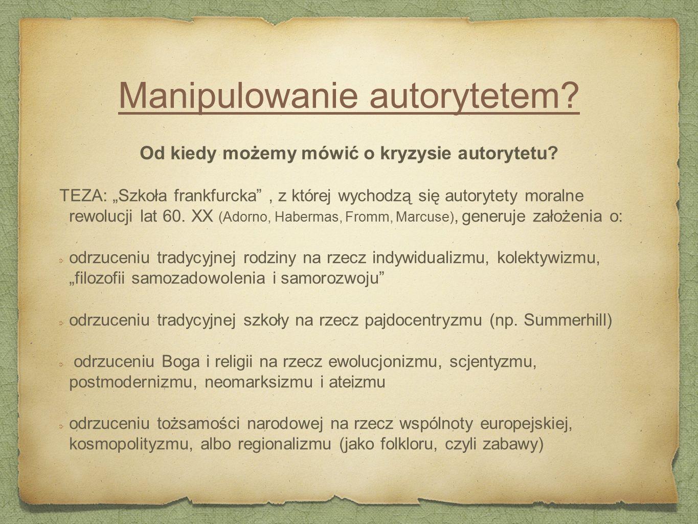 Manipulowanie autorytetem