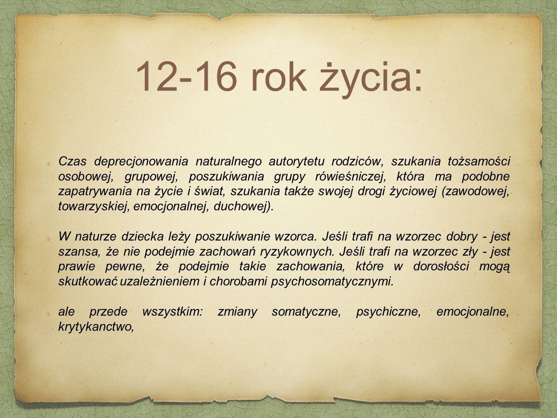 12-16 rok życia:
