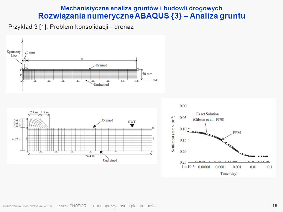 Rozwiązania numeryczne ABAQUS {3} – Analiza gruntu