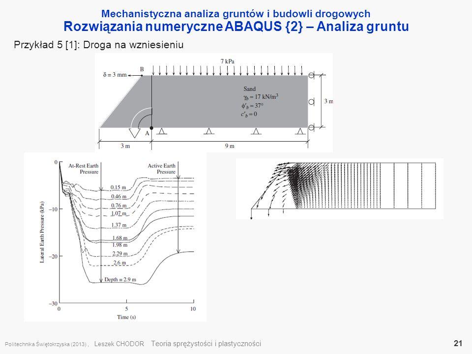 Rozwiązania numeryczne ABAQUS {2} – Analiza gruntu