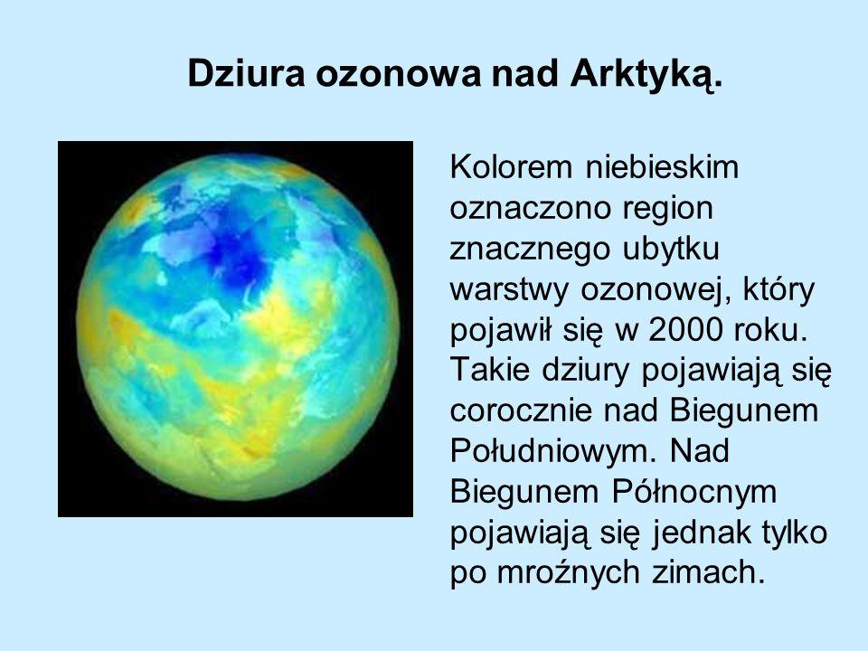 Dziura ozonowa nad Arktyką.