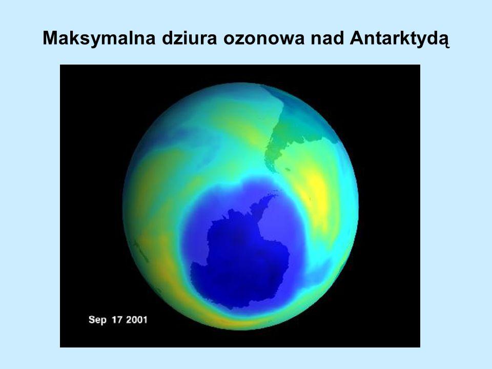 Maksymalna dziura ozonowa nad Antarktydą
