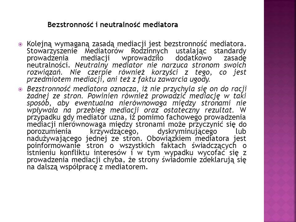 Bezstronność i neutralność mediatora
