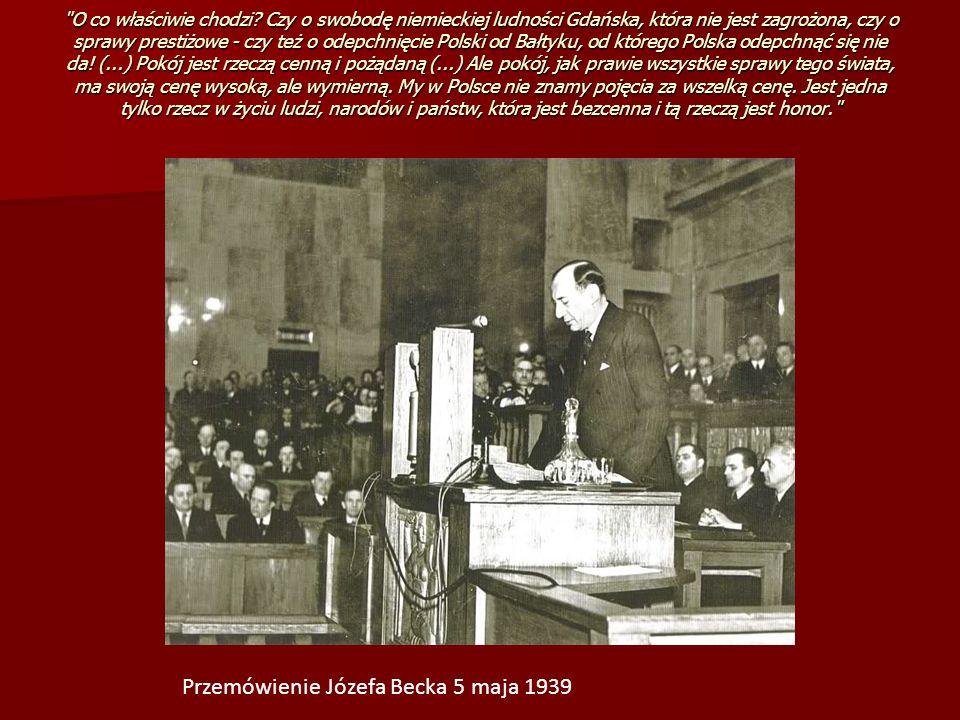 Przemówienie Józefa Becka 5 maja 1939