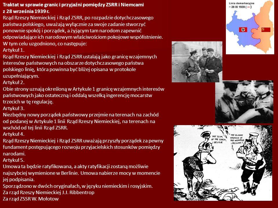 Traktat w sprawie granic i przyjaźni pomiędzy ZSRR i Niemcami z 28 września 1939 r.