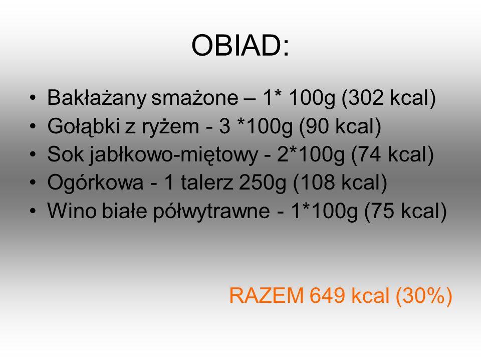 OBIAD: Bakłażany smażone – 1* 100g (302 kcal)