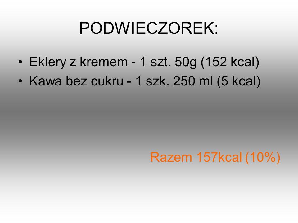 PODWIECZOREK: Eklery z kremem - 1 szt. 50g (152 kcal)