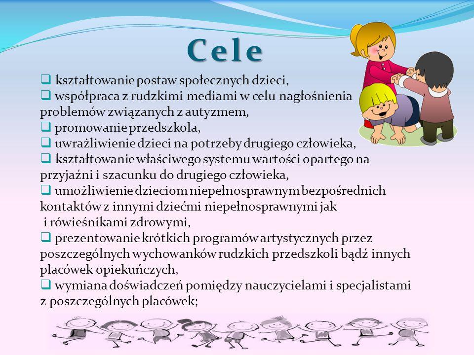 Cele kształtowanie postaw społecznych dzieci,