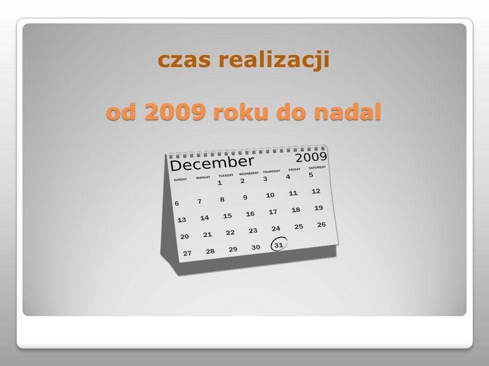 czas realizacji od 2009 roku do nadal