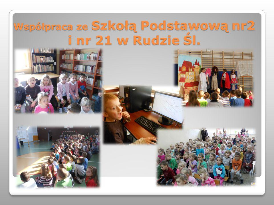 Współpraca ze Szkołą Podstawową nr2 i nr 21 w Rudzie Śl.
